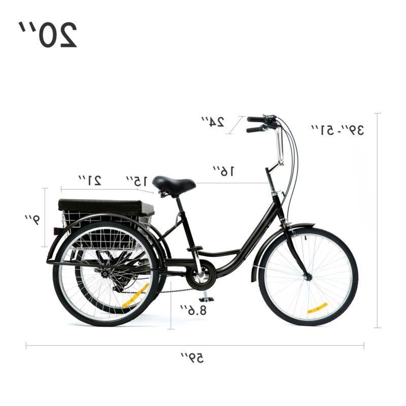 "26""/24""/20"" Tricycle Bike Large"