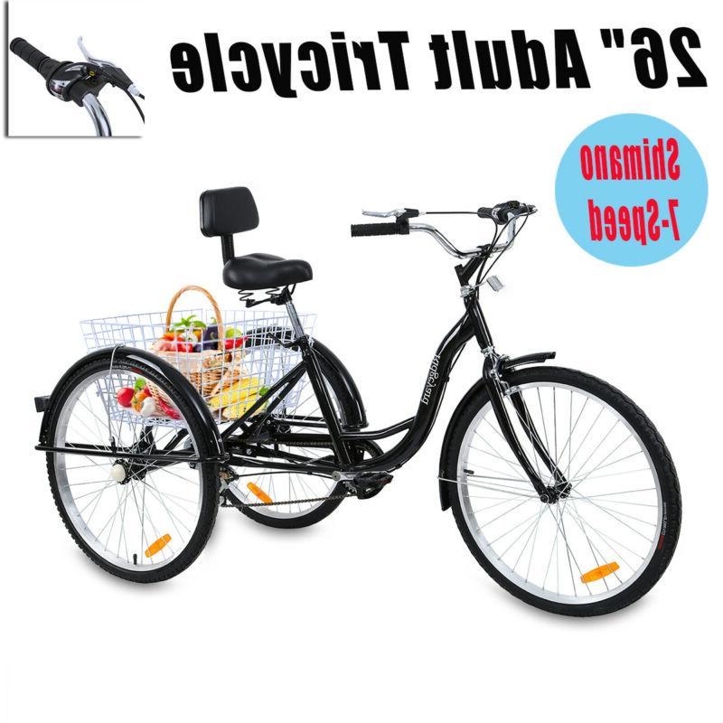 26 3 wheel shimano 7 speed adult