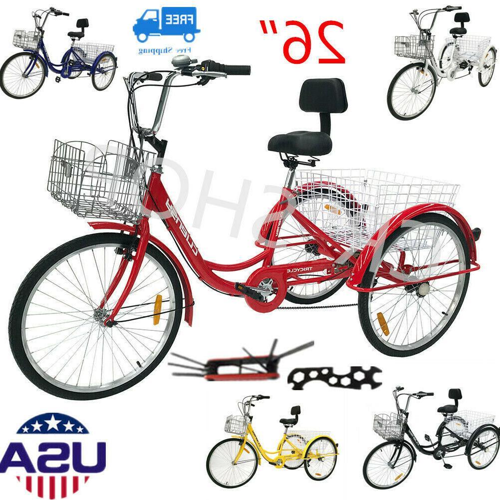 26 3 wheel tricycle 7 speed trike