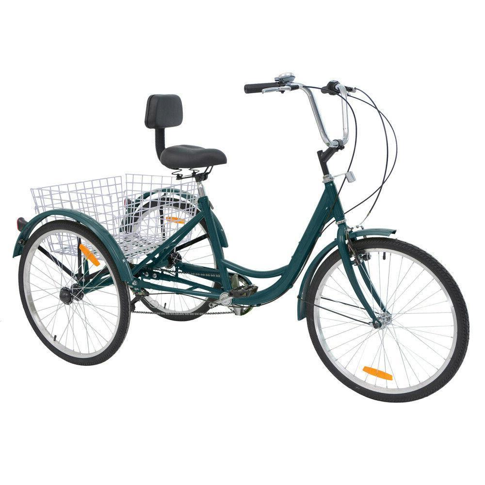 26'' Wheel Adult Trike w/ Shopping for Seniors