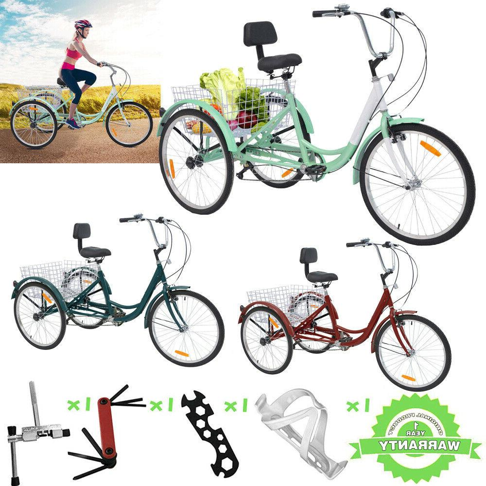 26 7 speed 3 wheel adult tricycles