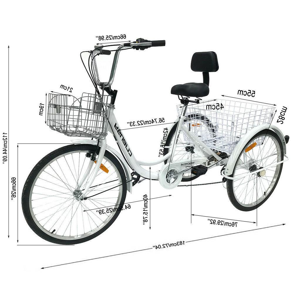 Trike Bicycle Bike Cruise Basket