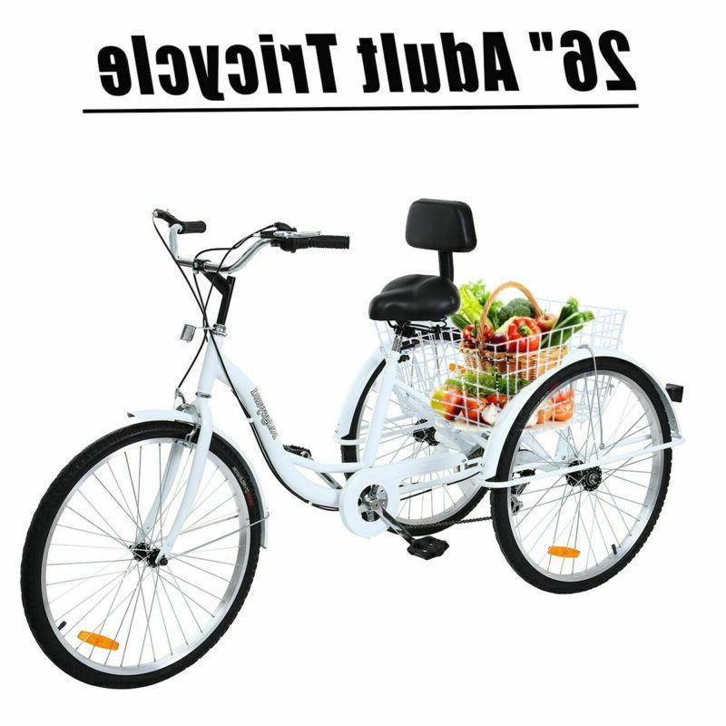 26 24 adult 3 wheel tricycle trike