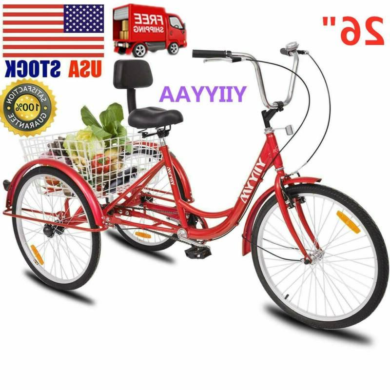 26 adult 3 wheel tricycle trike cruise