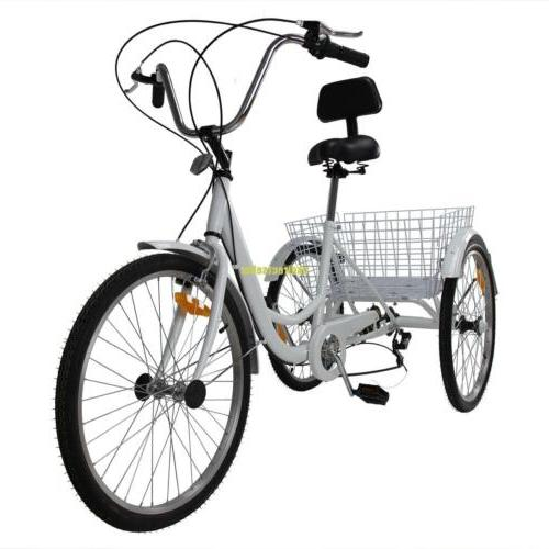 3-Wheel Tricycle Adult Bike Bicycle Cruise 6-Speed