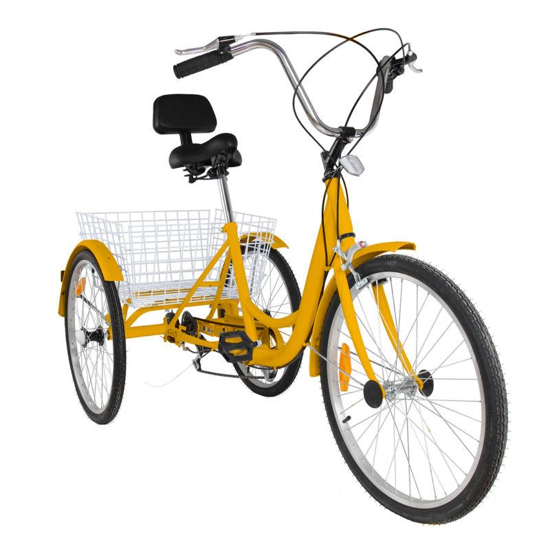 "6-Speed 24"" 3 Wheel Adult Bicycle Dreirad"