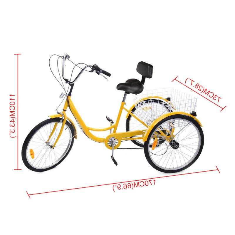 "6-Speed 24"" Adult Bicycle Tricycle Dreirad"