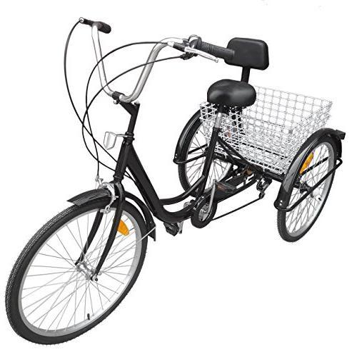 Ridgeyard Inch Wheel Tricycle Cruiser Basket