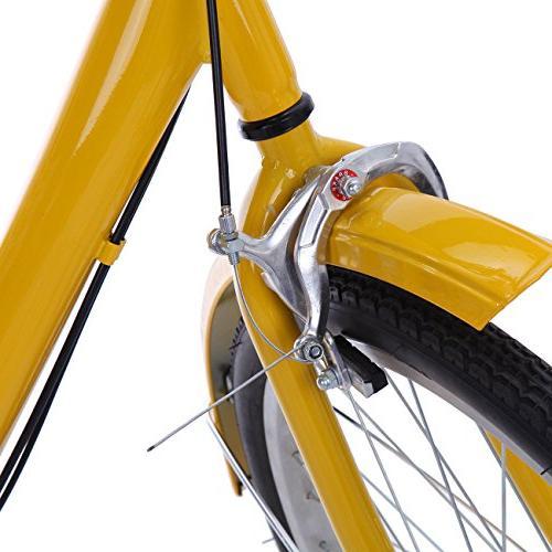 "Iglobalbuy Yellow 24"" 6-Speed 3 Tricycle Trike"