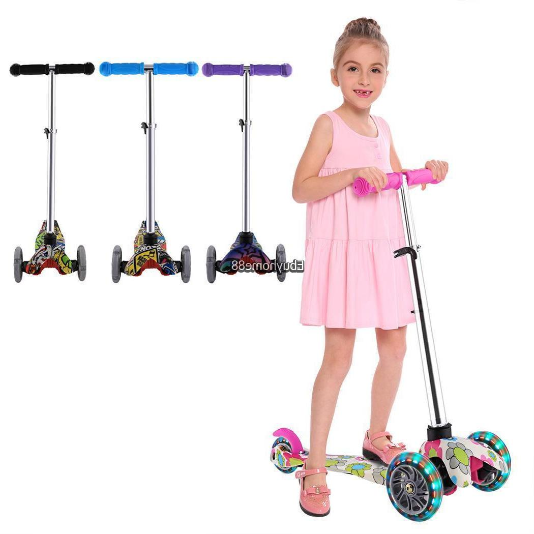 3 For Kids with LED Rear Wheels Boy Girl