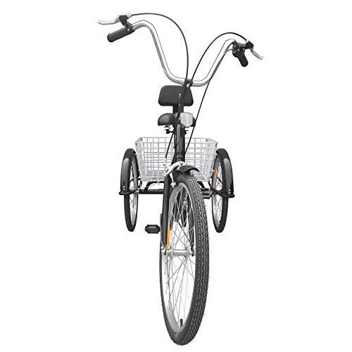 Ridgeyard 6 Inch Tricycle Cruiser Bicycles Folding Basket