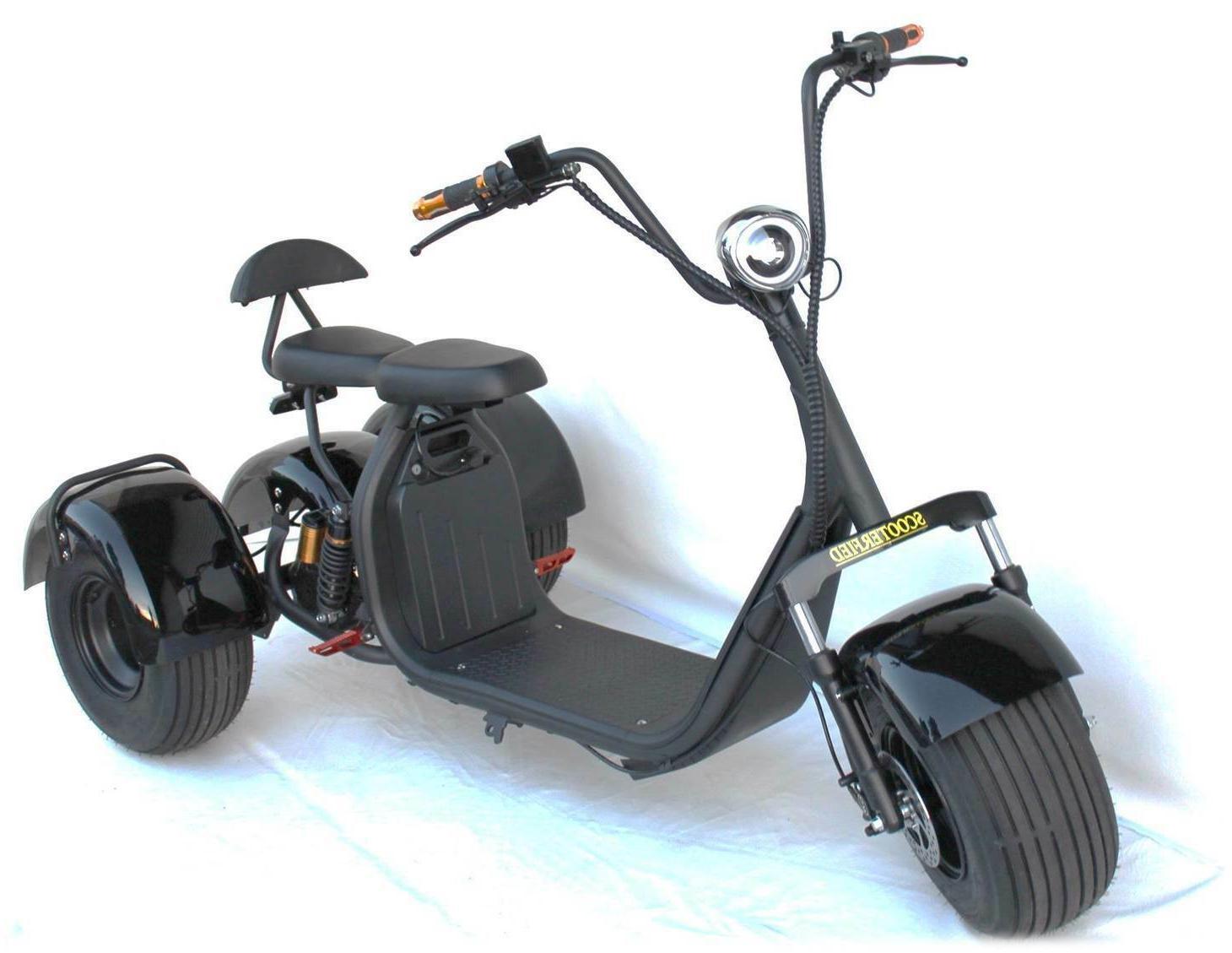 3 Wheel Trike 1500w 60v E-Scooter Scooterfied.com 18.5 Fat T