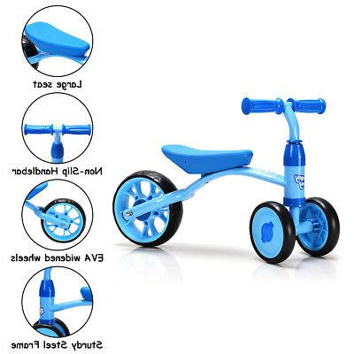3 Bike Tricycle Toy Baby Walker No Pedal Blue