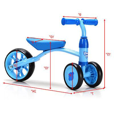 3 Wheels Kids Bike Tricycle Toy Rides Baby Walker No Pedal Blue