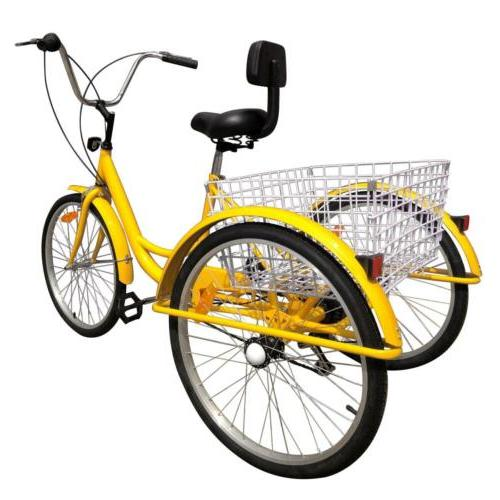 """3-Wheels 24"""" Adult Tricycle 6-Speed Shimano"""