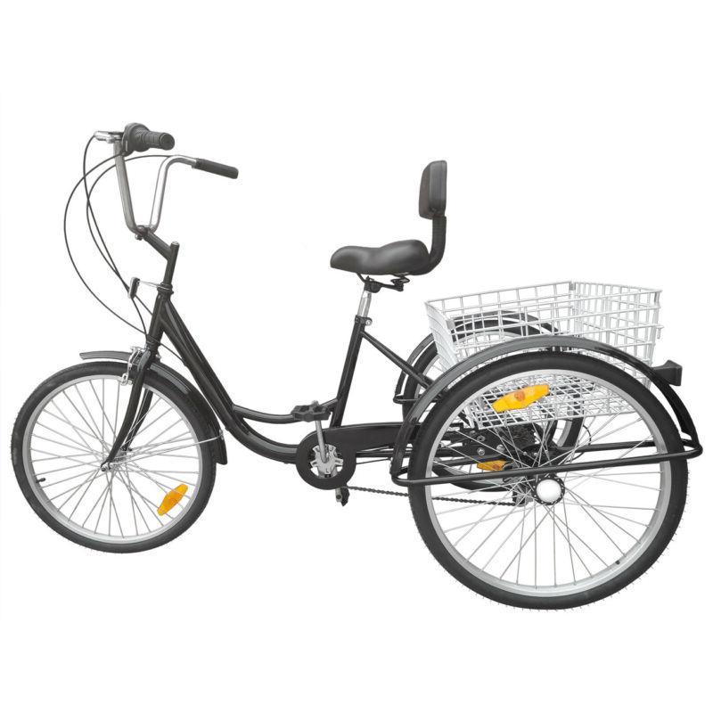 Ridgeyard 26inch 3-Wheel Tricycle Bicycle Basket