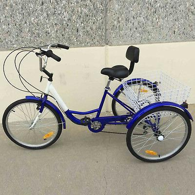 3-Wheels Trike Tricycle Basket Bicycle