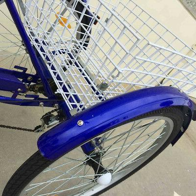 3-Wheels Tricycle Cruiser Blue V-brake