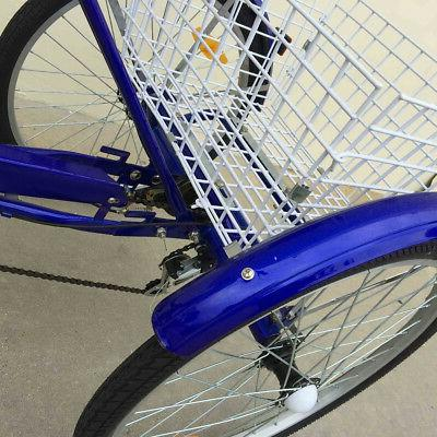 3-Wheels Tricycle 7-Speed Shimano Cruiser Blue