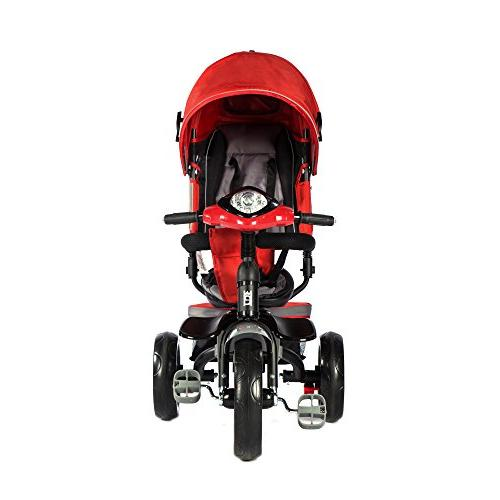 Evezo 302A Push Tricycle Stroller Seat, Seat, Safety LED