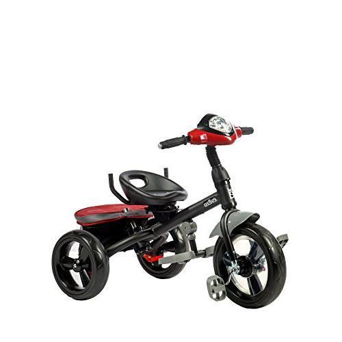 Evezo 4-in-1 Parent Push Kids, Stroller Trike Seat, Reclining 5-Point Safety Harness, LED Storage Bin