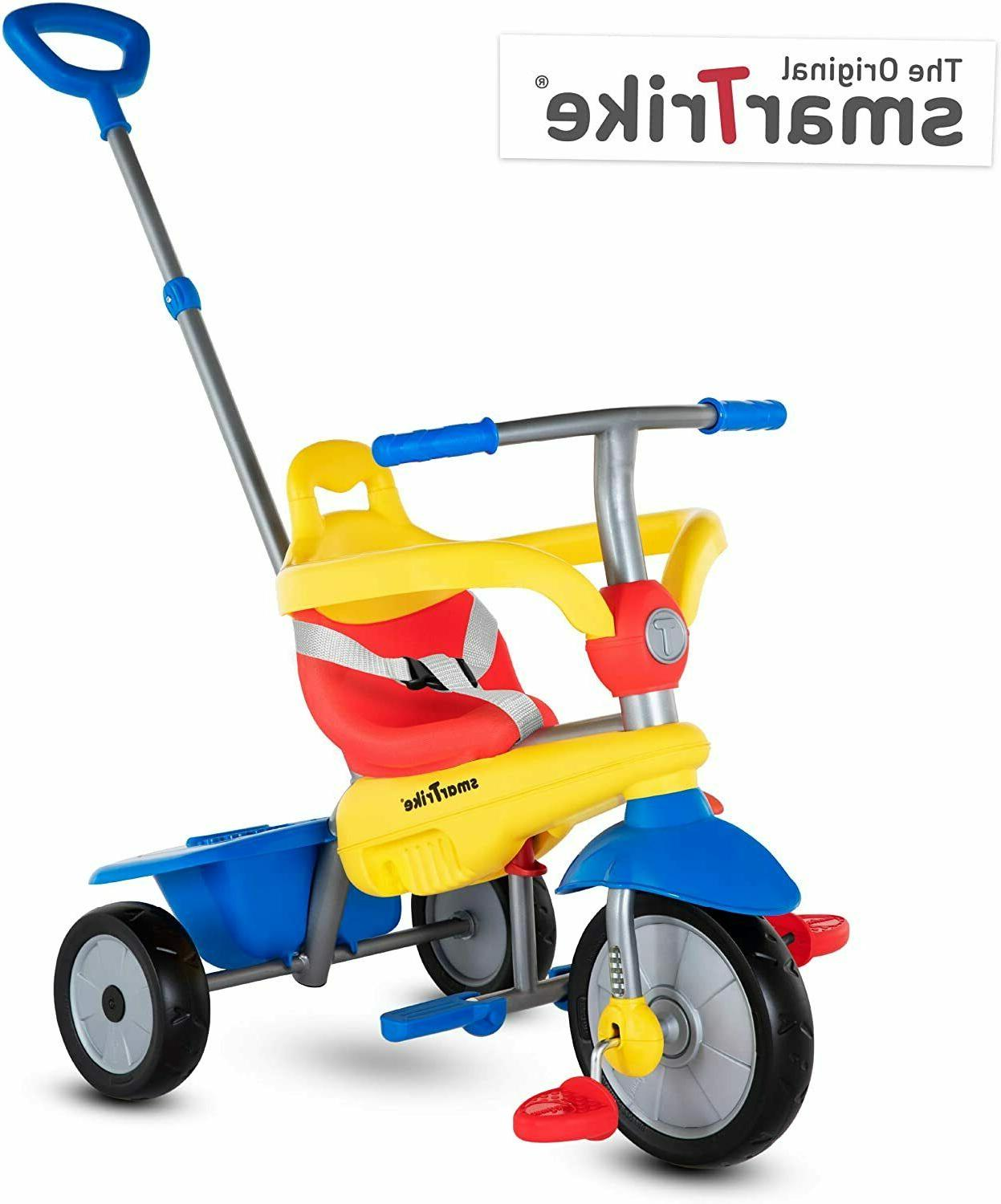 """36.6x17.7x40.2"""" Toddler Kids Tricycle with Safety Bar Adjust"""