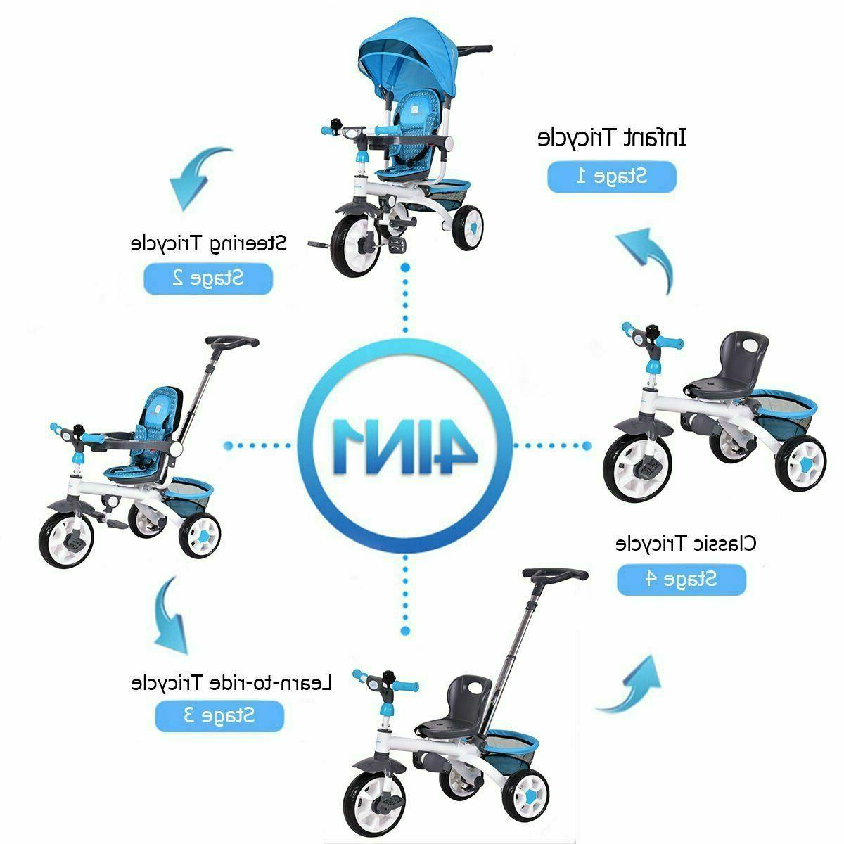 4-in-1 Baby Tricycle