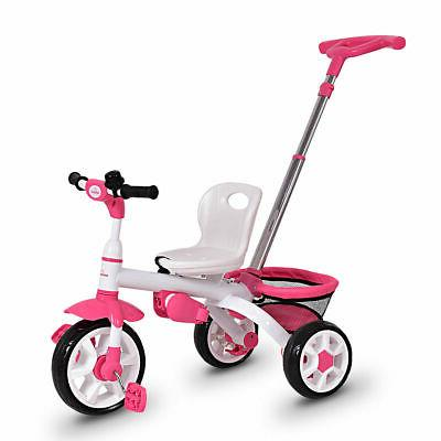 4-In-1 Kids Tricycle Learning Toy Bike w/ Canopy