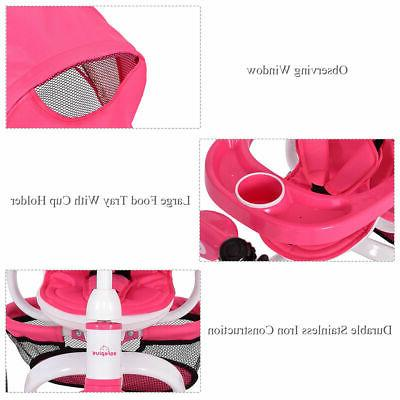 Tricycle Learning Toy Bike Canopy