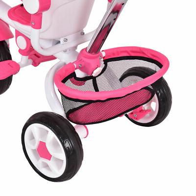 4-In-1 Kids Stroller Tricycle Detachable Learning Toy Bike Basket