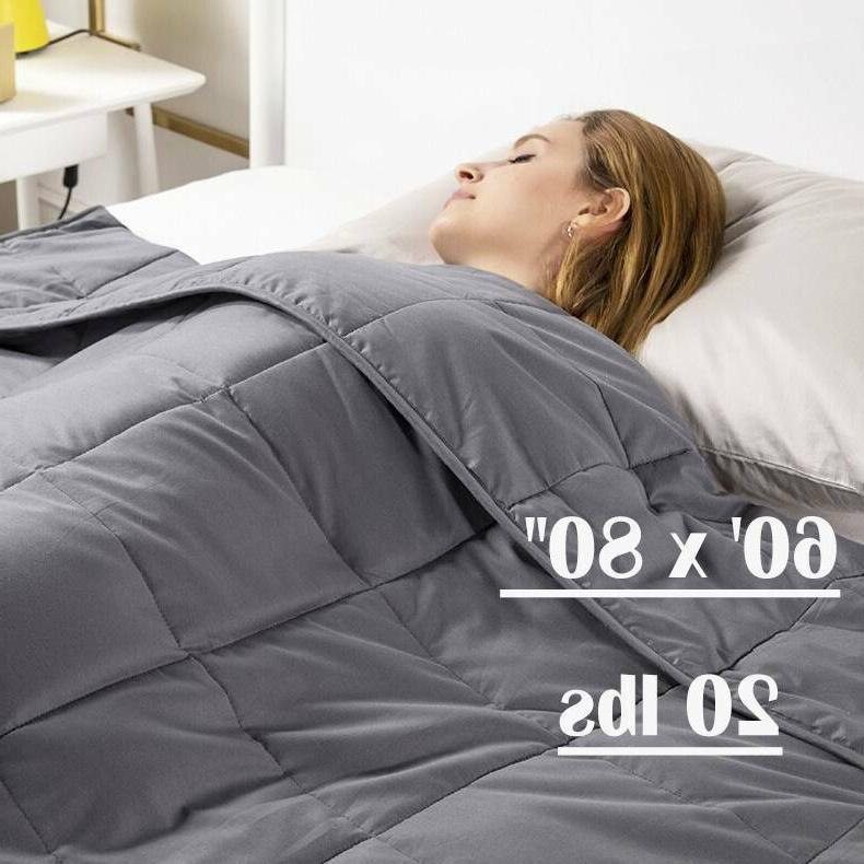 """48""""x72"""" Weighted Blanket Twin Size Reduce Stress Promote Dee"""