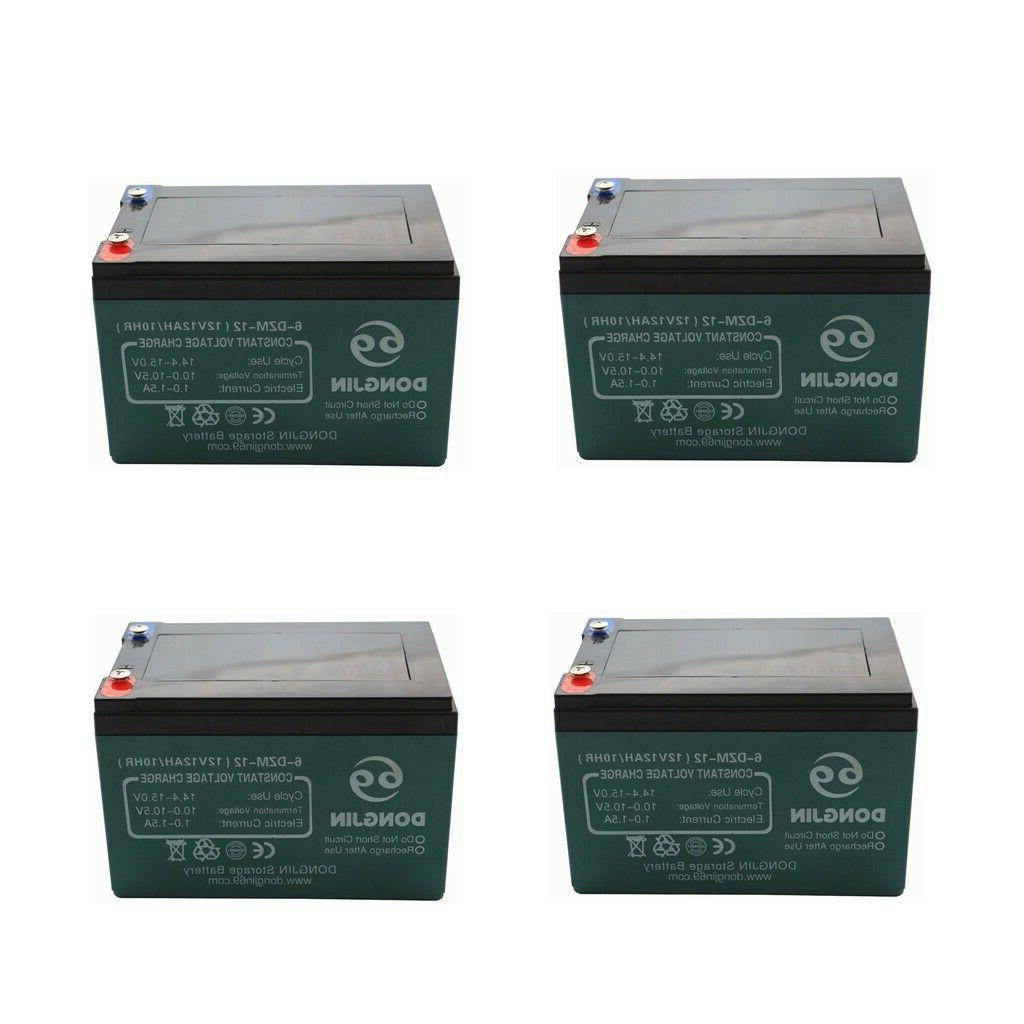 4x 12V 12Ah 6-DZM-12 Rechargeable Battery for Mobility Scoot