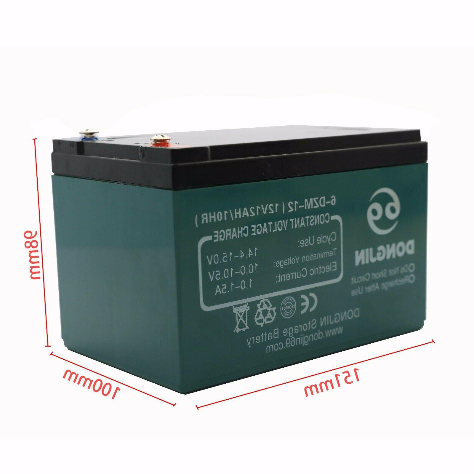 12V 12Ah 6-DZM-12 Rechargeable Battery for Mobility Scooter