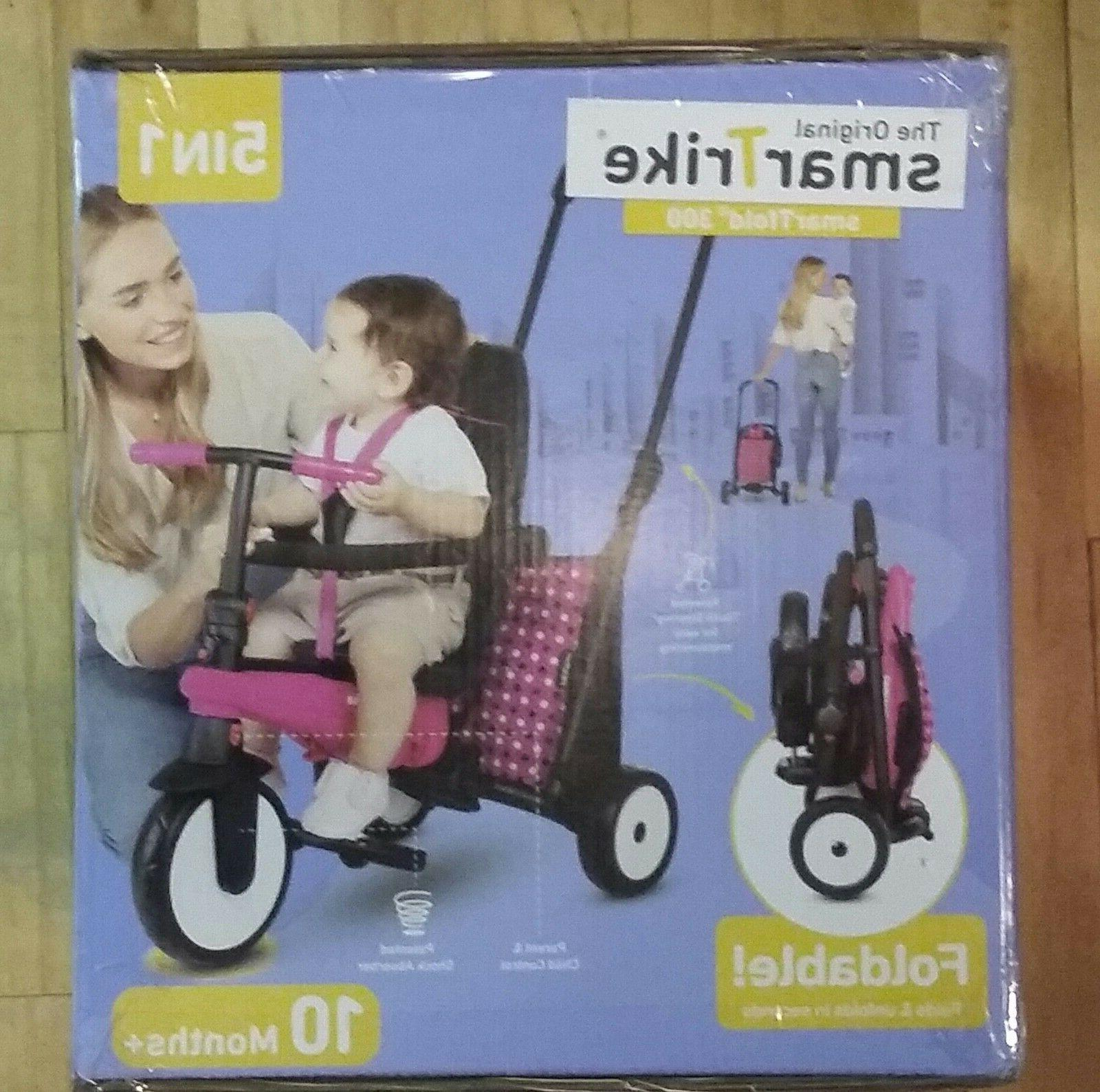 5 in 1 pink folding ride on