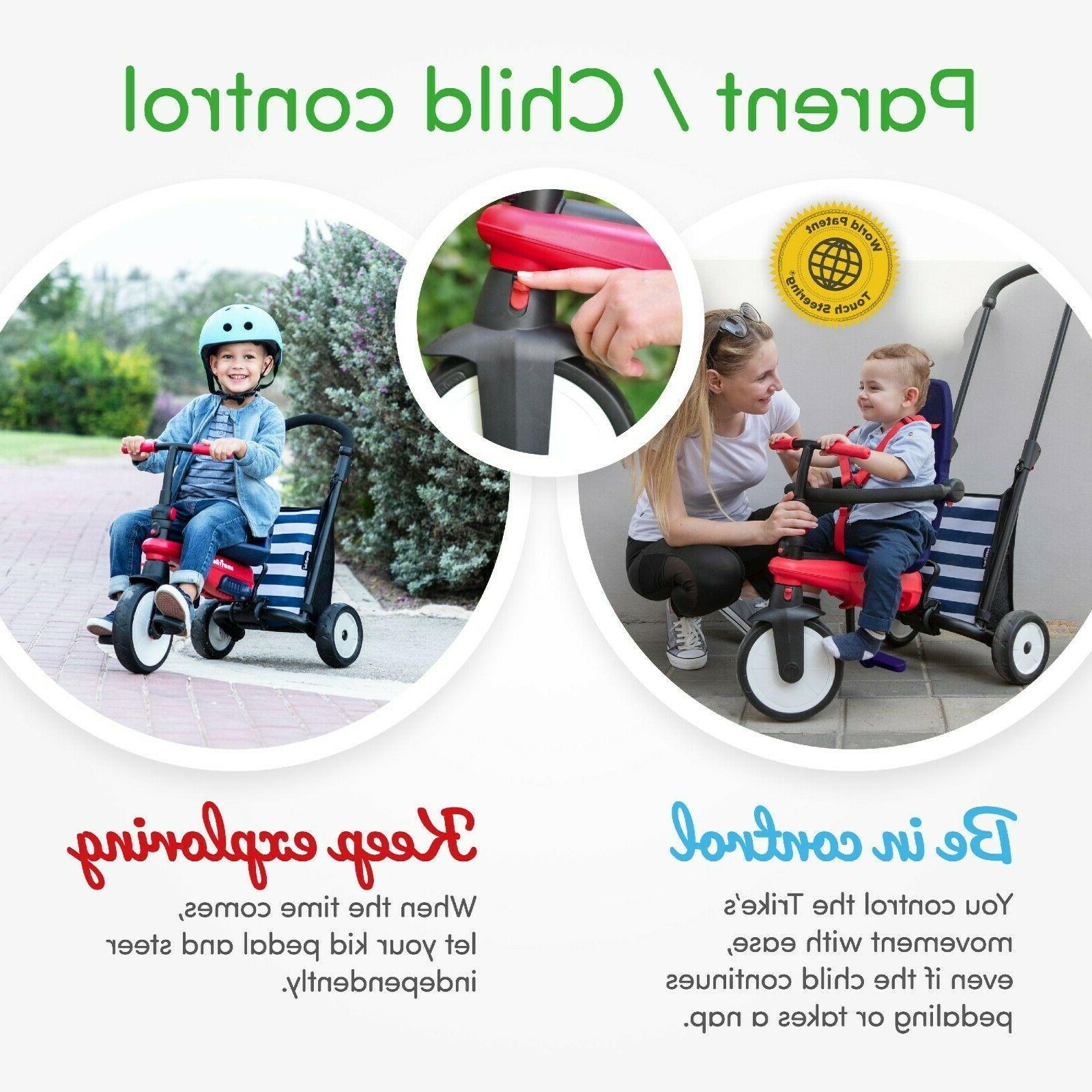 5-in-1 10-36 Smart Trike Stroller Navy