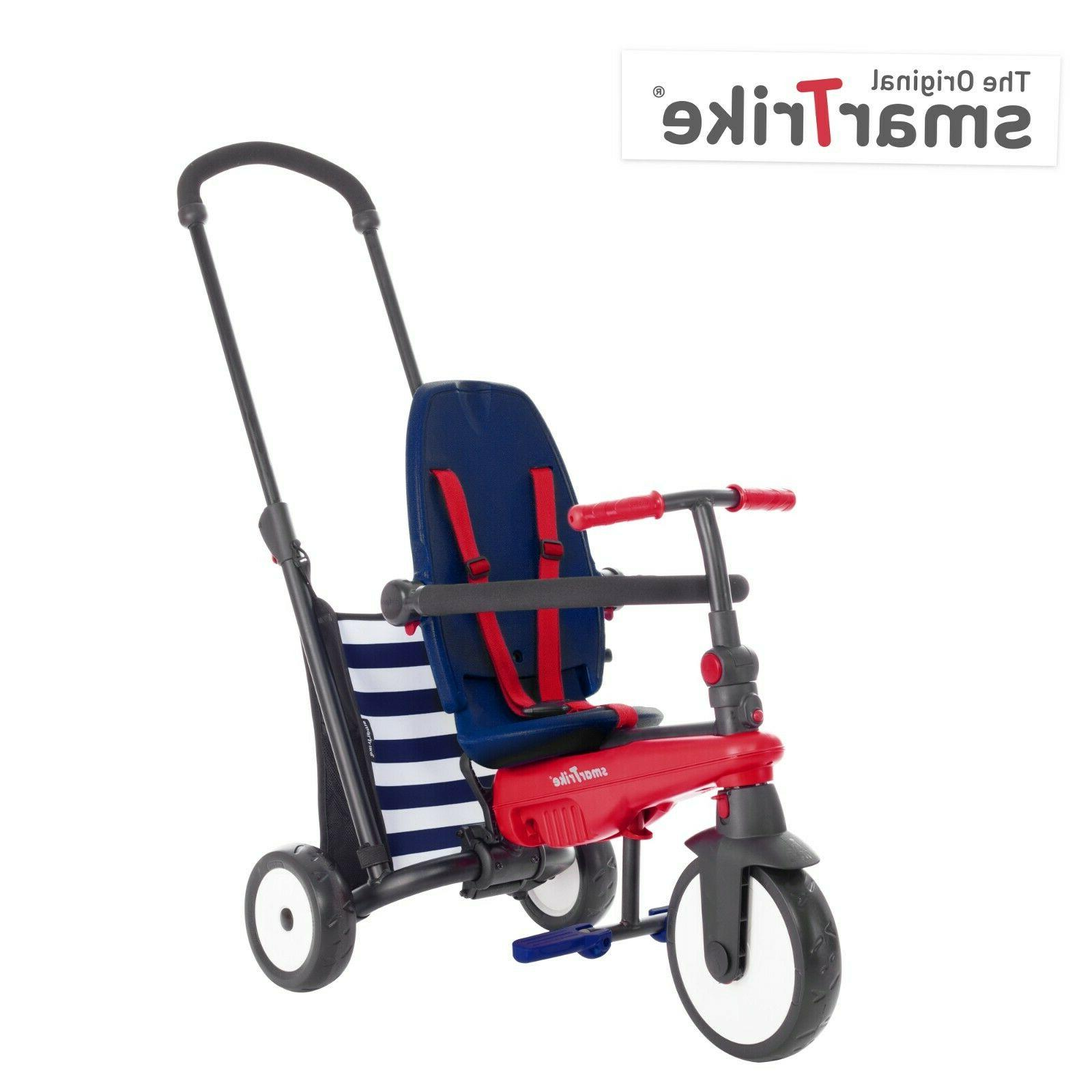 5-in-1 Tricycle 10-36 Months Baby Smart Trike Stroller Navy