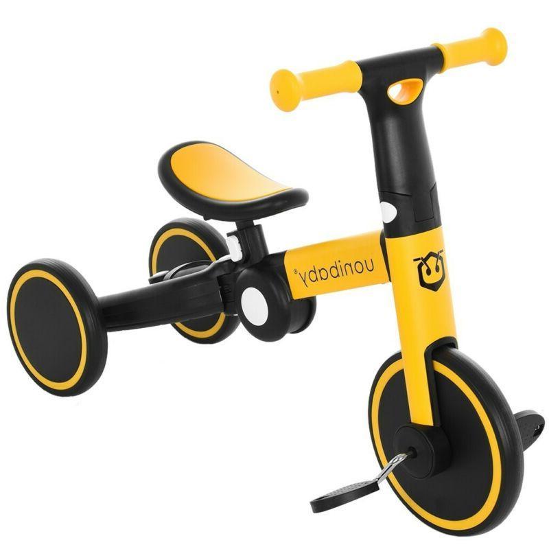 5-in1 Unisex Children Balance Bike Kids Tricycle  Learn Ride