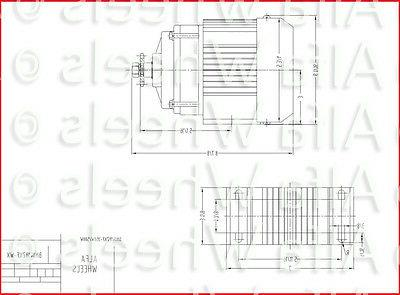 500W 48V Tricycle Brushless DIY GEAR Reduction