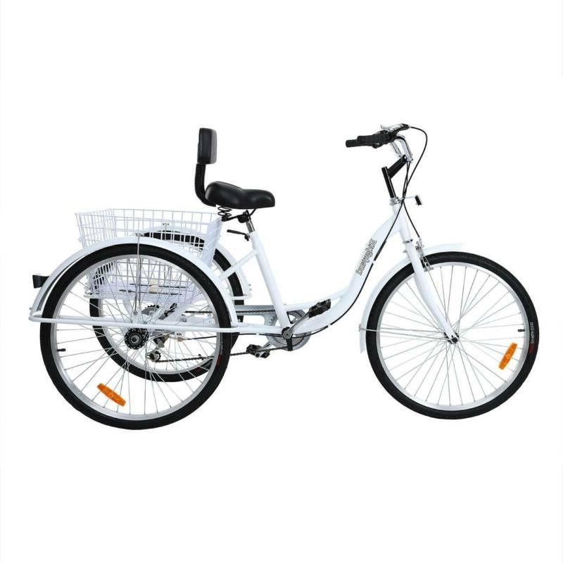 Ridgeyard 26inch 3-Wheel Tricycle Bicycle Trike Cruise Basket