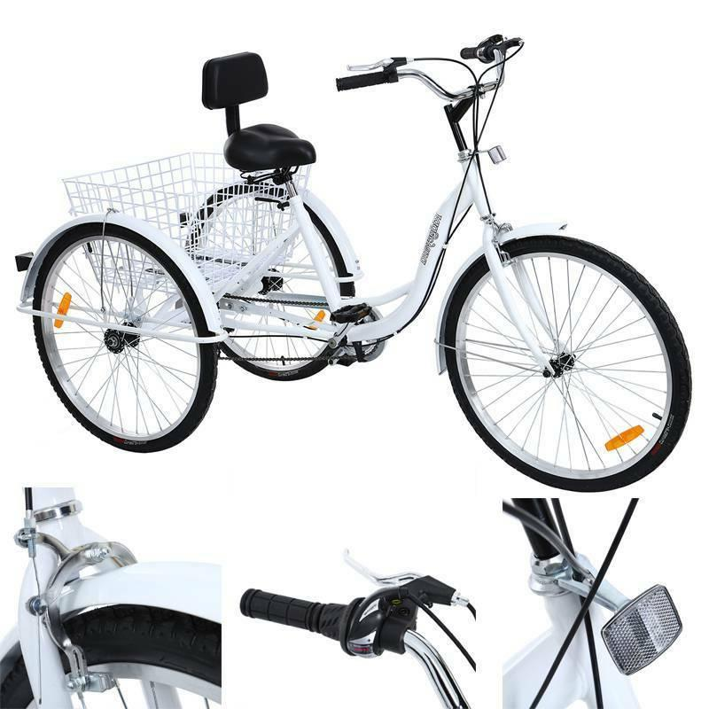 6 speed 24 3 wheel adult tricycle