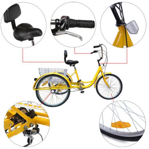 """6/7-Speed 24"""" Tricycle Cruise With"""