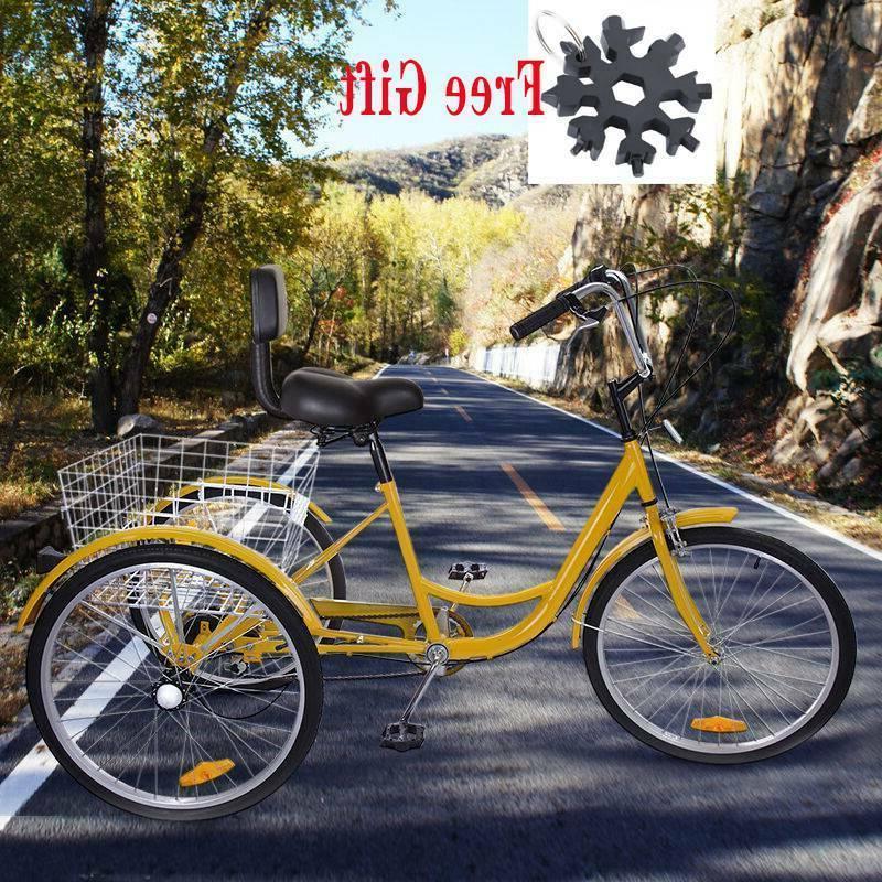 Wheel Adult Trike Cruise Bike+Gift