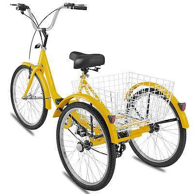 Adult Tricycle 7-Speed 3-Wheel Shimano Trike Bike