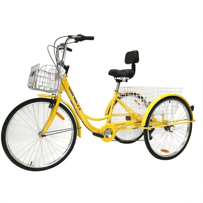 """7-Speed Adult  26"""" 3-Wheel Tricycle Trike Bicycle Bike Cruis"""