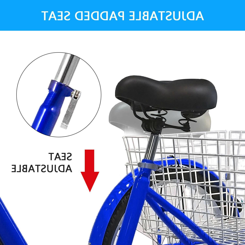 "24"" Adult Tricycle 1&7 Speed Wheels Trike Bicycle Bike w/Shopping US"