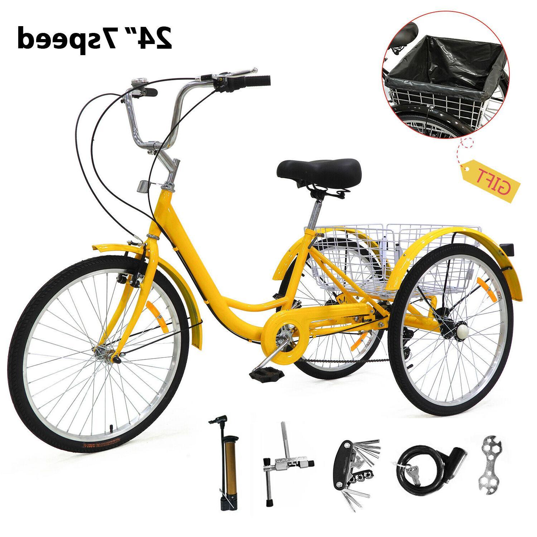 """24"""" Tricycle Speed Trike Bicycle Bike US"""
