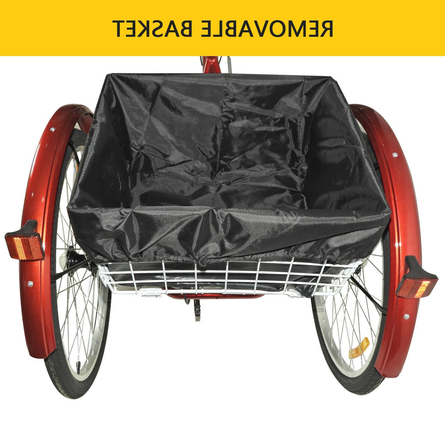 """24"""" Adult Tricycle Speed Bicycle US"""
