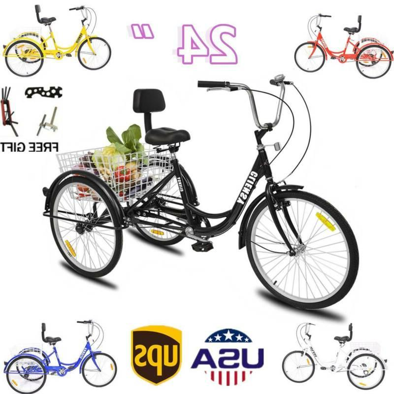 7 speed adult 24 3 wheel tricycle