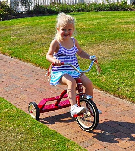 """Kettler Flyer by 12"""" Retro Trike Adjustable Seat: Red, Youth Ages to"""