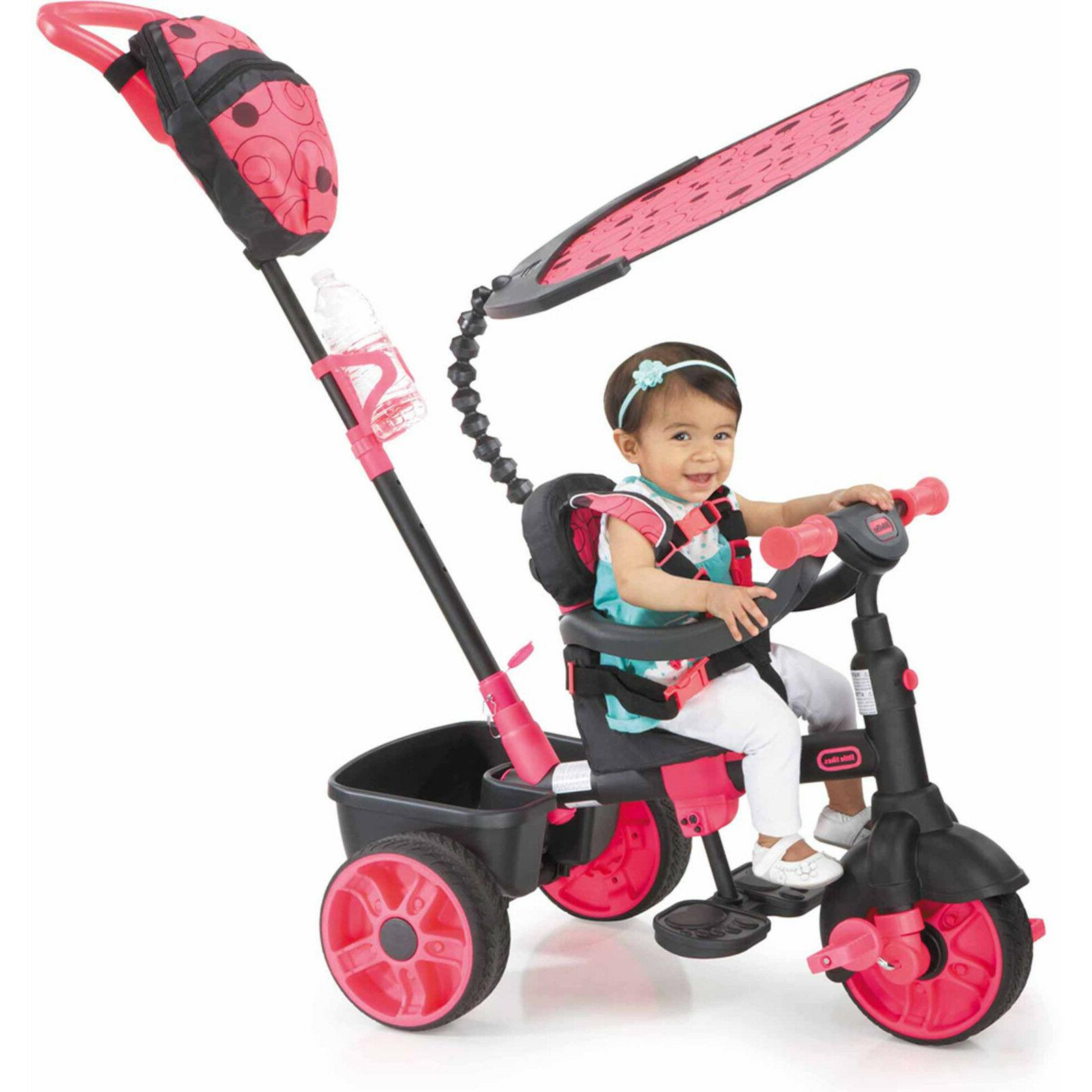 Little Tikes 4-in-1 Ride On, Neon Pink, Deluxe Edition